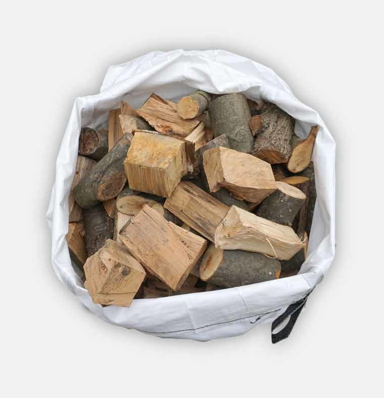 small bag of logs