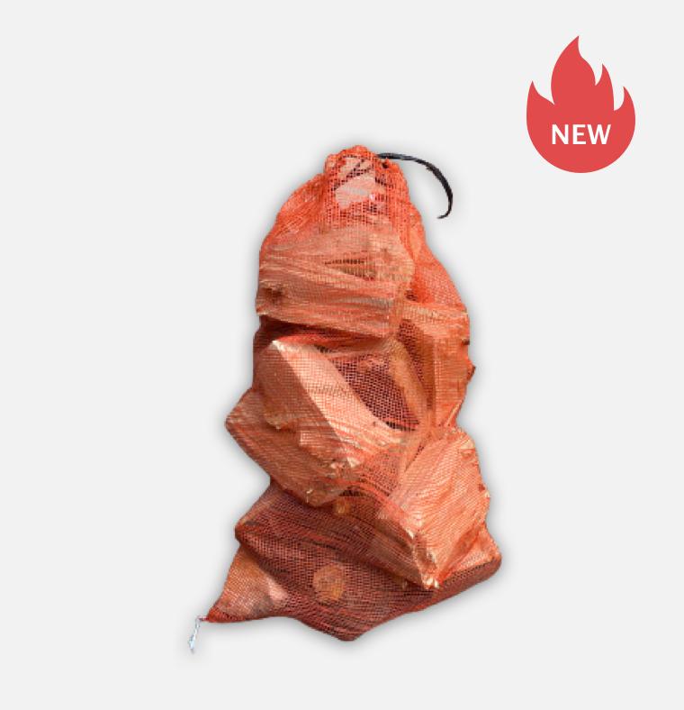 Net bag of kiln dried softwood logs 13-15